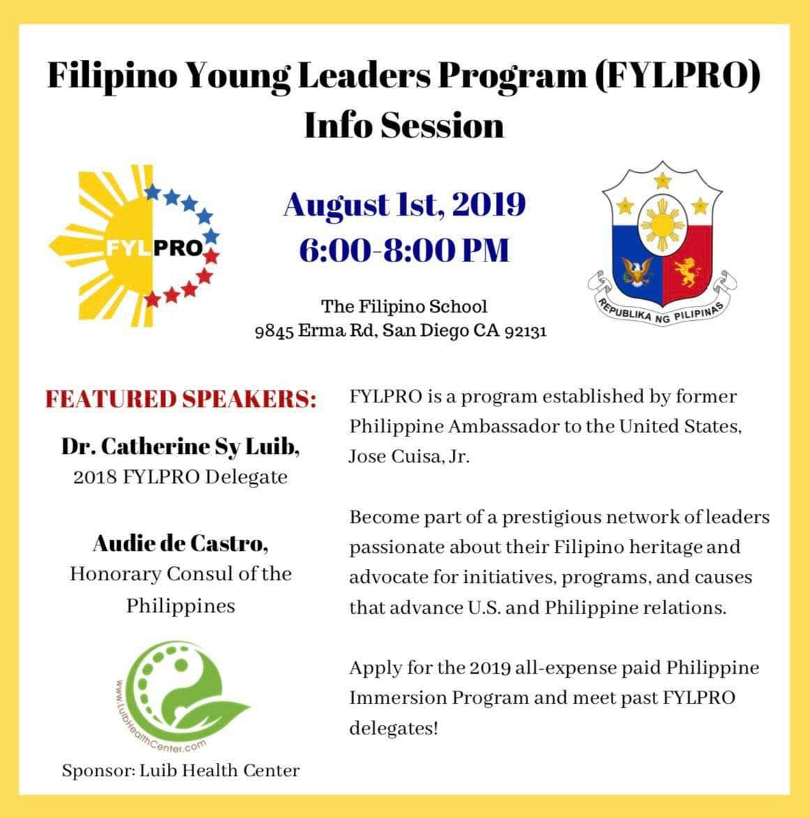 San Diego FYLPRO Info Session – FYLPRO